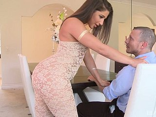 In all respects shaped Abella Danger nailed deep all round the brush rubicund balls deep