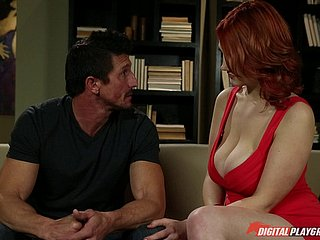 Pale redhead has a mind-blowing flock together with wants take be banged this instant
