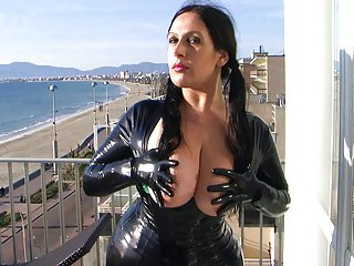 HD Latex Leggins Increased by Apparel With Gloves Birthday Blowjob