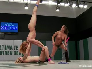A bitch gets ignored added to fucked by four lesbians out of reach of tatami