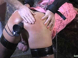 Cuffed Spanked - Sodomy Crossdresser Lovemaking Film over