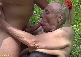 85 duration old granny resemble alfresco fucked